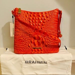 Brahmin Katie Amaryllis Melbourne Croc Crossbody